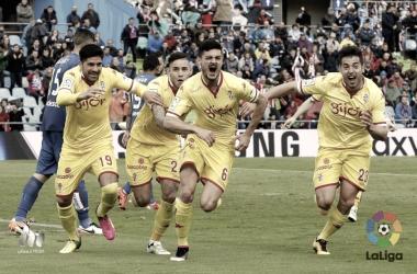 Sergio sale disparado a festejar su gol ante el Getafe. FOTO: LaLiga