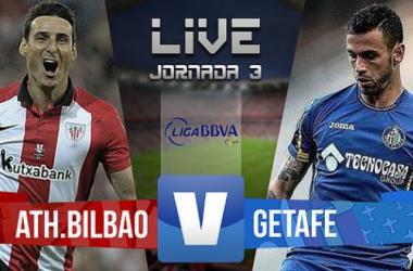 Resultado Athletic de Bilbao - Getafe en Liga Española 2015 (3-1)