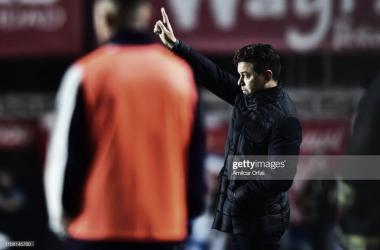 NO CONOCE LA DERROTA. Gallardo quiere continuar por la senda exitosa en La Paternal, la última vez que fue a ese estadio fue en el 2019. Foto: Getty images