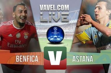 Resultado Benfica x Astana na UEFA Liga dos Campeões (2-0)
