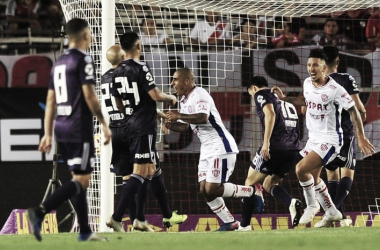 GOLPAZO. Zabala, fue el último héroe de Unión en el último partido en el Monumental que terminó con triunfo visitante. Foto: Web