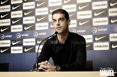 Gerard López atendió a los medios después del partido. | Foto: Noelia Déniz, VAVEL