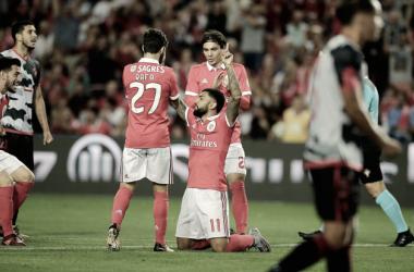 O Benfica venceu o Olhanense por 0-1 // Foto: Facebook do Sport Lisboa e Benfica