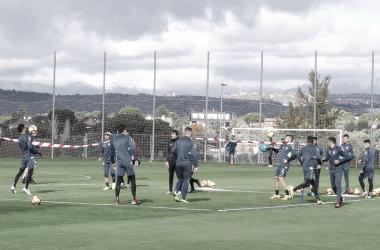 Finalizada la penúltima sesión antes de enfrentarse al CD Tenerife