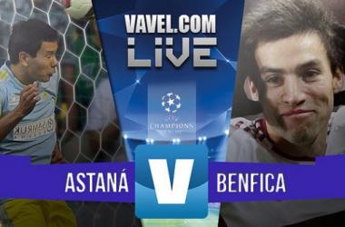Astana - Benfica en Champions League 2015 (2-2): a octavos de final