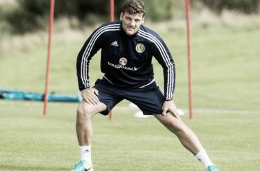 Martin en un entrenamiento con la selección. Foto: Scotland FA