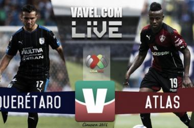 Resultado Querétaro - Atlas en Liga MX 2016 (1-3)