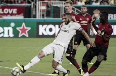 Benzema durnte un partido en ICC. Foto:Real Madrid