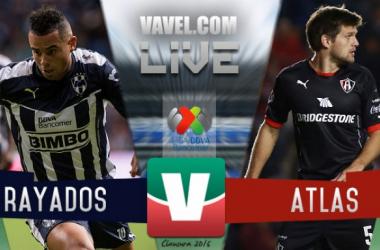 Resultado Rayados Monterrey - Atlas en Liga MX 2016 (1-0)