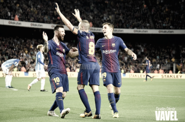 Messi e Iniesta, dos de los cinco componentes azulgranas. | Foto: Noelia Déniz, VAVEL