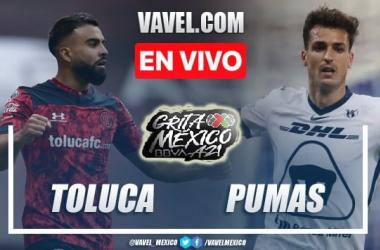 Goles y resumen del Toluca 2-1 Pumas en Liga MX 2021