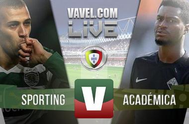 Sporting 3-2 Académica: jogo pleno de emoções, muitos golos e incerteza até perto do fim
