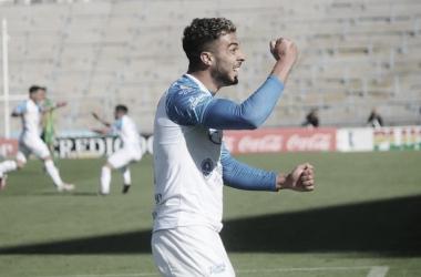 Ojeda mostró otra vez su capacidad goleadora como ante Gimnasia. Foto: Prensa Godoy Cruz