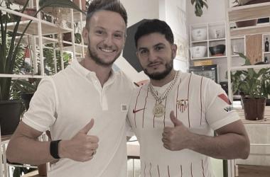 Ivan Rakitic junto a Omar Montes. -Instagram