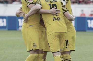 Celebrando la victoria / Foto: @bvb09