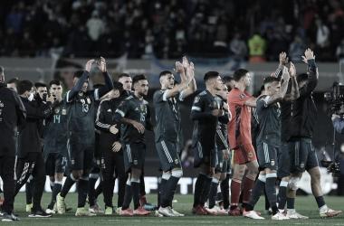 ILUSIONADOS. Los hombres de la Selección Argentina están a paso firme en las Eliminatorias. Foto: Web