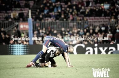 Andrés Iniesta en el partido de la primera vuelta disputado contra el Levante en el Camp Nou | Foto de Noelia Déniz, VAVEL