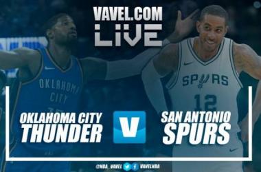Resumen Oklahoma City Thunder vs San Antonio Spurs, NBA en vivo y en directo online (90-87)
