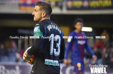 Javi Varas encajó tres goles contra el Barcelona B | Foto: Noelia Déniz/ VAVEL.com