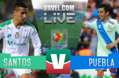 Resultado Santos - Puebla en Liga MX 2016 (1-1)