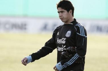 Cachete, en un entrenamiento con la Selección en 2011 (Foto: Web)