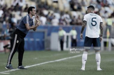 Lionel Scaloni- Leandro Paredes- Selección Argentina