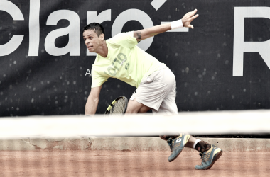 Rogerinho vence set, mas desperdiça chances e é eliminado por cabeça de chave no Rio Open