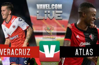 Resultado y goles del Veracruz 0-1 Atlas en Copa MX