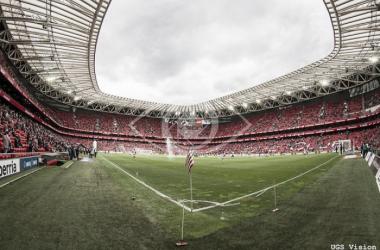 San Mamés en la previa de un partido liguero | Fotografía: UGS Vision