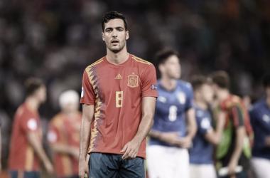Mikel Merino al final del partido / FOTO: UEFA