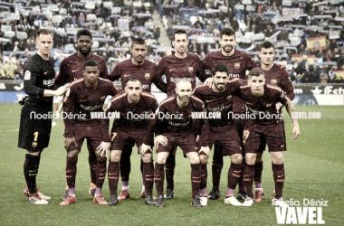 El XI titular que se enfrentó al RCD Espanyol en la jornada 22. Foto: Noelia Déniz, VAVEL.com