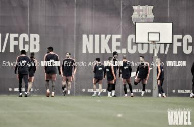 Entrenamiento del Fútbol Club Barcelona antes de viajar a Sevilla | Foto de Eduardo Ariño, VAVEL
