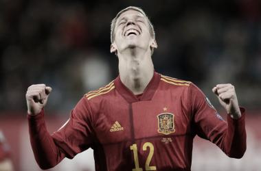 Dani Olmo debutaba con la selección española contra Malta, encuentro en el que también fue autor de un gol   Foto: UEFA.com