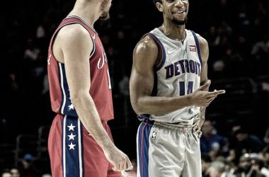 Philadelphia 76ers vs. Detroit Pistons.