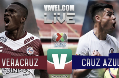 Resultado y goles del Veracruz 1-2 Cruz Azul en Liga MX 2018