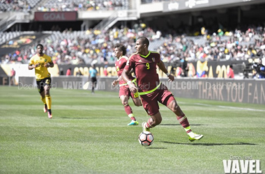 Salomon Rondon scored the lone goal in Venezuela's upset victory. | Photo: Dean Reid/VAVEL USA