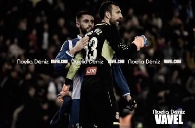 Diego López en el partido contra el Barcelona. Foto: Noelia Déniz.