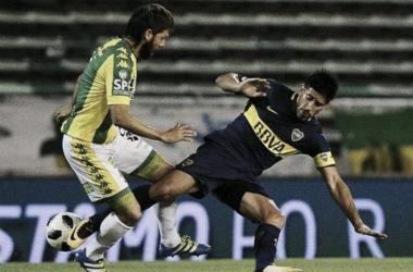Pablo Pérez frente a Aldosivi / Foto: 442
