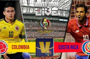 Colombia vs Costa Rica en vivo por la tercera fecha de la Copa América Centenario