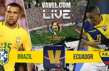 Score Brazil - Ecuador of 2016 Copa America Centenario (0-0)