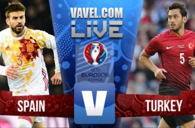 Resultado Espanha x Turquia na Eurocopa 2016 (3-0)
