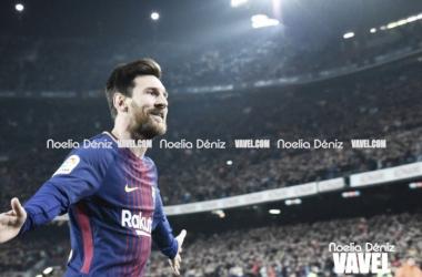Messi volció a liderar al Barça en su victoria ante el Espanyol.   Fotografía: Noelia Déniz (VAVEL.com)