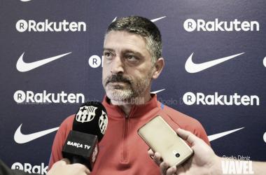 """García Pimienta: """"Tenemos el bonito reto de volver a Segunda A"""" / Foto: Noelia Déniz, VAVEL."""