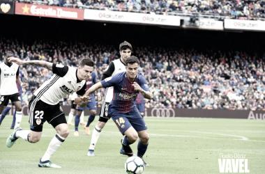 Philippe Coutinho ante el Valencia | Foto de Noelia Déniz, VAVEL