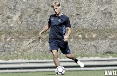 Sergio Canales en un entrenamiento/Foto: Giovanni Batista VAVEL