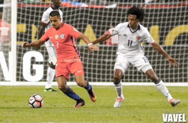 Chile earned a hard-fought win over Los Cafeteros Wednesday night in Chicago. | Photo: Gary Duncan/VAVEL USA