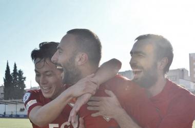 Sergi Arranz celebra un gol esta temporada | Foto: Juanma Medina (Terrassa FC)