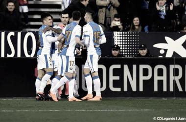Unai Bustinza celebrando su gol frente al Real Madrid | Foto: CD Leganés