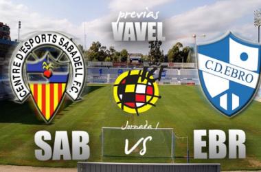 "CE Sabadell - CD Ebro: ""derbi"" arlequinado para dar inicio a la liga"
