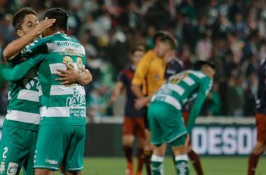 """<p class=""""MsoNormal"""">Vázquez no celebró el gol por estar jugando frente a su ex equipo. (Foto: Liga Mx)<o:p></o:p></p>"""